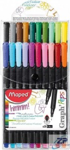 Cienkopis Maped Graphpeps 20 szt etui